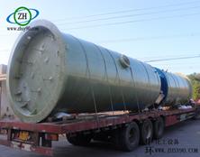 浙江杭州一体化泵站玻璃钢罐的案例分析。